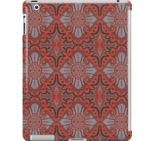 """Sliced pomegranat"" organic forms,  bohemian pattern, terracotta and grey tones iPad Case/Skin"