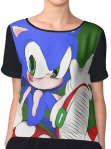 The hedgehog and the champigñon Chiffon Top