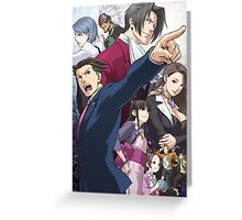 Ace Attorney Poster Greeting Card