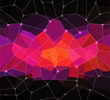 Abstract background. Hot pink. Color space. by Lyusya