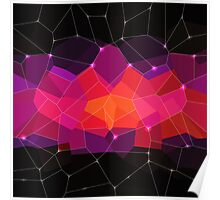 Abstract background. Hot pink. Color space. Poster