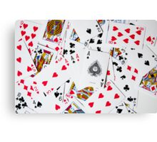 poker cards Canvas Print
