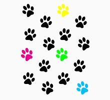 Random Colorful Cat Paws 001 Unisex T-Shirt