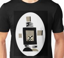 Life Is Black And White When A Robot Unisex T-Shirt