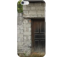 Wood Door in a Concrete Wall iPhone Case/Skin
