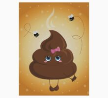 Cute turd with a bow and flies. T-Shirt
