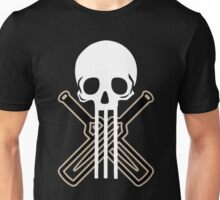 Cricket Skull Bats Ball Stump Unisex T-Shirt