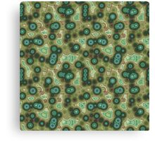 Psychedelic Circles Olive Green & Rust Canvas Print