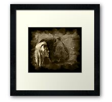 Grizzly Bear Ferocious Framed Print