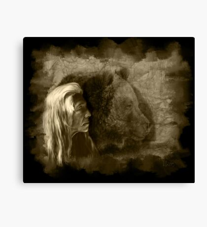 Grizzly Bear Ferocious Canvas Print