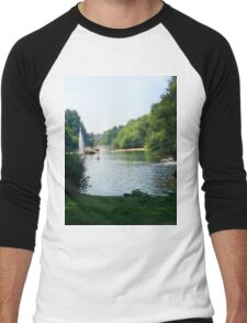 Water River Men's Baseball ¾ T-Shirt