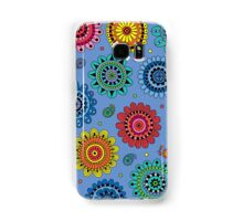Flowers of Desire blue Samsung Galaxy Case/Skin
