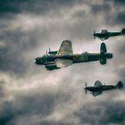 BBMF Spitfire Escort by Nigel Bangert