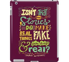 What Stories Do iPad Case/Skin