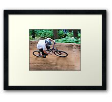Chicksands Bike Park - The Burn Framed Print