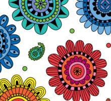 Flowers of Desire white Sticker