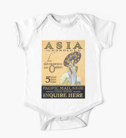 Vintage poster - Asia One Piece - Short Sleeve