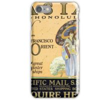 Vintage poster - Asia iPhone Case/Skin