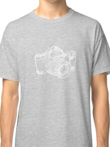 Pentax 6X7 Medium Format Camera WHITE INK Classic T-Shirt