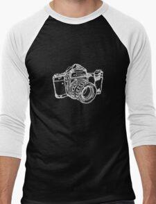 Pentax 6X7 Medium Format Camera WHITE INK Men's Baseball ¾ T-Shirt