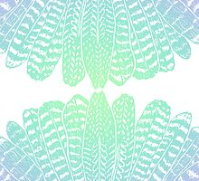 Feathers Seafoam by daisy-beatrice