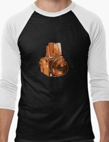 Medium Format 6x6 Camera Design in Orange Men's Baseball ¾ T-Shirt
