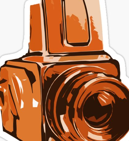 Medium Format 6x6 Camera Design in Orange Sticker