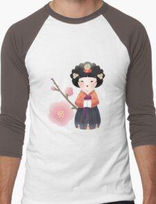 Korean Doll Men's Baseball ¾ T-Shirt