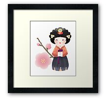 Korean Doll Framed Print