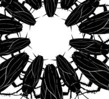 cockroach_lace_round Sticker