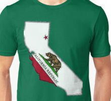California Map With Californian State Flag Unisex T-Shirt