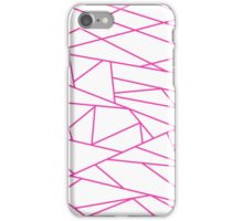 Pink Fractal Art retro Fashion Pattern ( pink and white 60s, 70s inspired ) iPhone Case/Skin