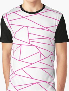 Pink Fractal Art retro Fashion Pattern ( pink and white 60s, 70s inspired ) Graphic T-Shirt