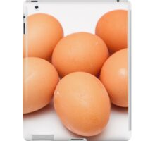 eggs on white background iPad Case/Skin