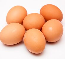 eggs on white background by arnau2098
