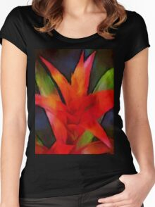 thinking of bromeliad Women's Fitted Scoop T-Shirt