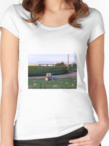 Little Blue Ford Tractor...Caldwell, Idaho....farm country Women's Fitted Scoop T-Shirt