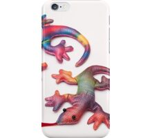 colorful lizards iPhone Case/Skin