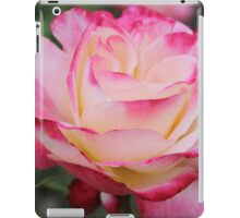 Hot pink and white rose iPad Case/Skin
