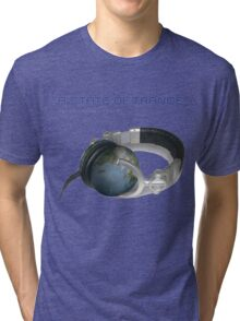 A State Of Trance World headphone Tri-blend T-Shirt
