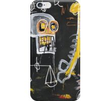 Basquiat 's ideas on Justice and huge dick iPhone Case/Skin