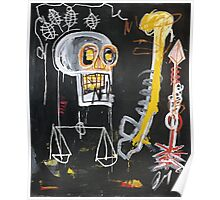 Basquiat 's ideas on Justice and huge dick Poster