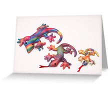 colorful lizards Greeting Card