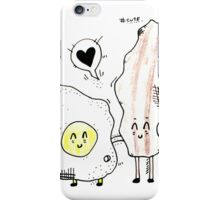 BFF eggs and bacon  iPhone Case/Skin
