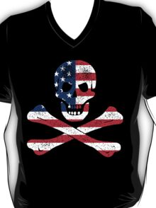 Skull and Bones American Flag Edition T-Shirt