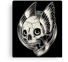 Bikers Skull Wings  Canvas Print