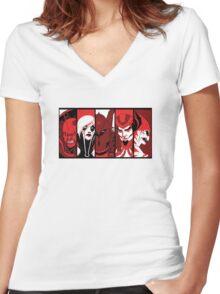 City of Villains Women's Fitted V-Neck T-Shirt