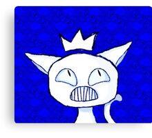 a cat into a ruler. Canvas Print
