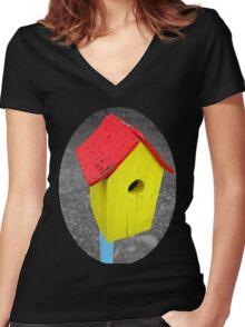 fixer upper Women's Fitted V-Neck T-Shirt