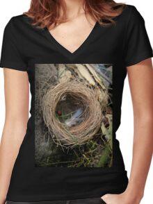 empty nest Women's Fitted V-Neck T-Shirt